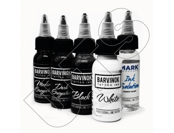 Barvinok Tattoo Ink – Full Set. 5шт 30мл