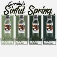 Gorskys Sinful Spring set. World Famous Tattoo Ink