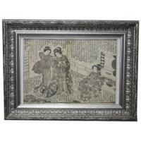 гравюра три гейши, HOKUSAI-Shool Katsushika 1860 коллекция MASTERSKIN